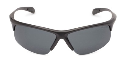 Front of Colt #9821 in Matte Black Frame with Grey Lenses