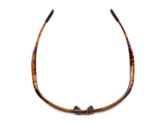 Overhead of Colt #9821 in Tortoise Frame with Brown Lenses