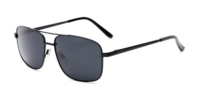 Angle of Commander #2168 in Black Frame with Grey Lenses, Women's and Men's Aviator Sunglasses