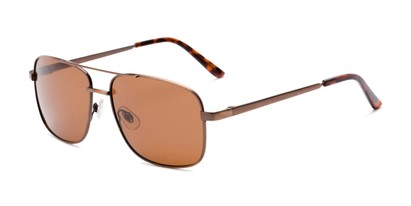 Angle of Commander #2168 in Bronze Frame with Amber Lenses, Women's and Men's Aviator Sunglasses