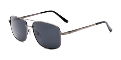 Angle of Commander #2168 in Grey Frame with Grey Lenses, Women's and Men's Aviator Sunglasses
