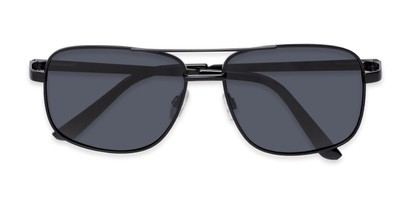 Folded of Commander #2168 in Black Frame with Grey Lenses