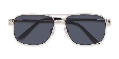 Folded of Commander #2168 in Silver Frame with Grey Lenses