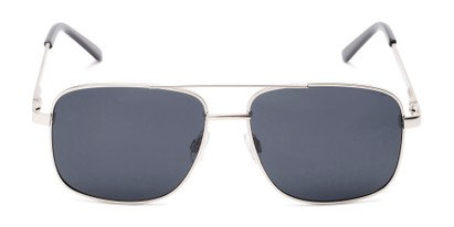 Front of Commander #2168 in Silver Frame with Grey Lenses