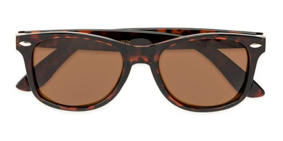 Folded of Cove #9966 in Tortoise Frame with Amber Lenses