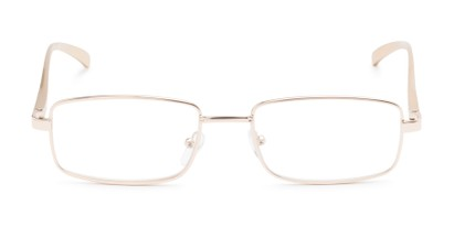 Front of Damien #6822 in Brown Frame with Gold Mirrored Lenses