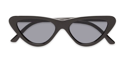 Folded of Dane #1623 in Black Frame with Grey Lenses