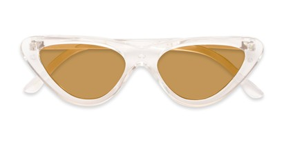 Folded of Dane #1623 in Clear Frame with Gold Mirrored Lenses