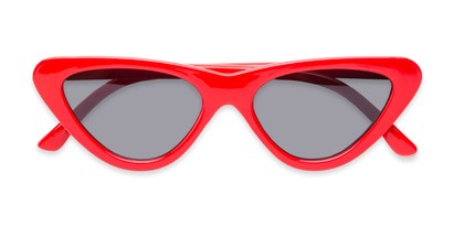 Folded of Dane #1623 in Red Frame with Grey Lenses