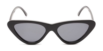 Front of Dane #1623 in Black Frame with Grey Lenses