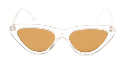 Front of Dane #1623 in Clear Frame with Gold Mirrored Lenses