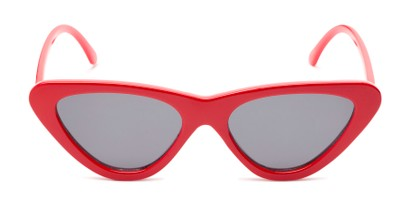 Front of Dane #1623 in Red Frame with Grey Lenses