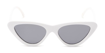 Front of Dane #1623 in White Frame with Grey Lenses