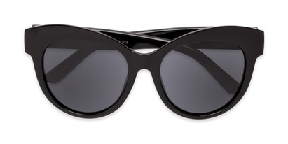 Folded of Daphne #0077 in Black Frame with Grey Lenses