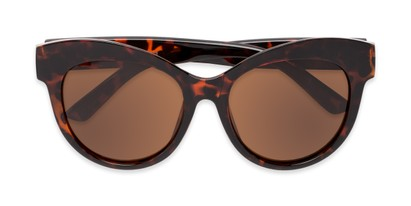 Folded of Daphne #0077 in Tortoise Frame with Amber Lenses