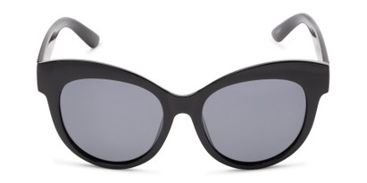 Front of Daphne #0077 in Black Frame with Grey Lenses