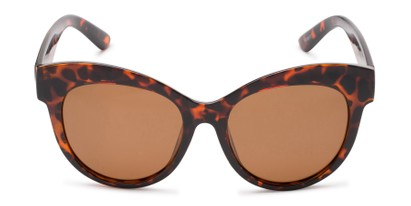 Front of Daphne #0077 in Tortoise Frame with Amber Lenses