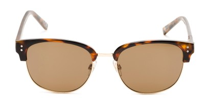 Front of Delaney by Foster Grant in Tortoise/Gold Frame with Amber Lenses
