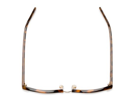 Overhead of Delaney by Foster Grant in Tortoise/Gold Frame with Amber Lenses