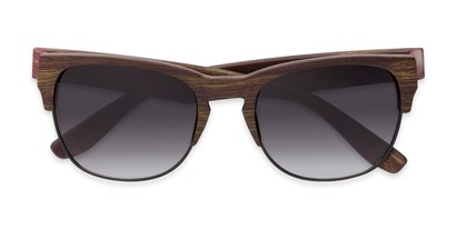 Folded of Dallas #54101 in Faux Wood Frame with Smoke Lenses