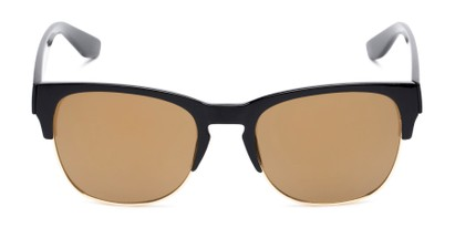 Front of Dallas #54101 in Glossy Black Frame with Gold Mirrored Lenses