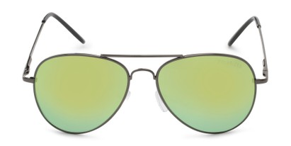 Front of Desert in Grey Frame with Blue/Yellow Mirrored Lenses