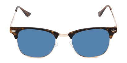 Front of Devon in Tortoise Frame with Blue Mirrored Lenses