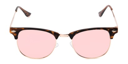 Front of Devon in Tortoise Frame with Pink Mirrored Lenses