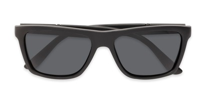 Folded of Dillon #2776 in Matte Black Frame with Grey Lenses