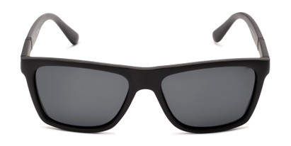 Front of Dillon #2776 in Matte Black Frame with Grey Lenses