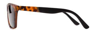Side of Dillon #2776 in Matte Tortoise Frame with Grey Lenses