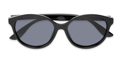 Folded of Dolores #16021 in Black Frame with Grey Lenses