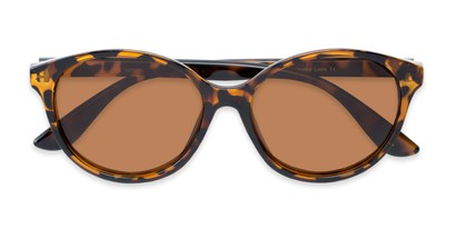 Folded of Dolores #16021 in Tortoise Frame with Amber Lenses