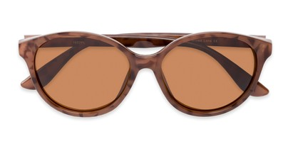 Folded of Dolores #16021 in Light Tortoise Frame with Amber Lenses