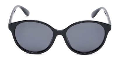 Front of Dolores #16021 in Black Frame with Grey Lenses