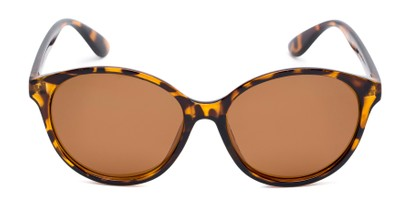 Front of Dolores #16021 in Tortoise Frame with Amber Lenses