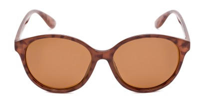 Front of Dolores #16021 in Light Tortoise Frame with Amber Lenses