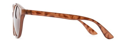 Side of Dolores #16021 in Light Tortoise Frame with Amber Lenses