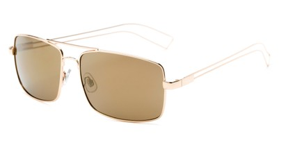 Angle of Dorian #2201 in Gold Frame with Gold Mirrored Lenses, Women's and Men's Aviator Sunglasses