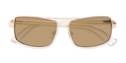 Folded of Dorian #2201 in Gold Frame with Gold Mirrored Lenses