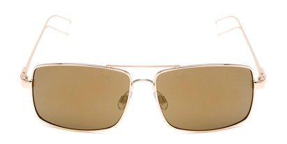 Front of Dorian #2201 in Gold Frame with Gold Mirrored Lenses