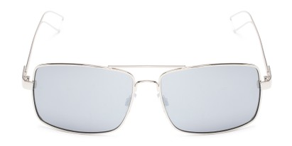 Front of Dorian #2201 in Silver Frame with Silver Mirrored Lenses