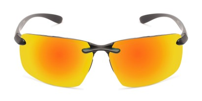 Front of Drew #2774 in Black Frame with Yellow/Orange Mirrored Lenses