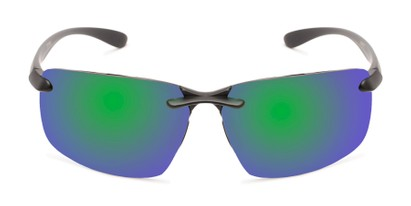 Front of Drew #2774 in Black Frame with Green/Purple Mirrored Lenses