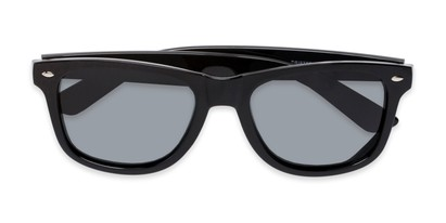 Folded of Drifter #540432 in Black Frame with Smoke Lenses