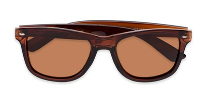 Folded of Drifter #540432 in Brown Frame with Amber Lenses