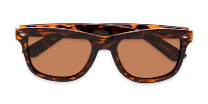 Folded of Drifter #540432 in Tortoise Frame with Amber Lenses