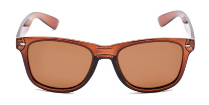 Front of Drifter #540432 in Brown Frame with Amber Lenses