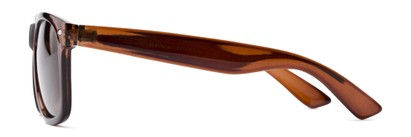 Side of Drifter #540432 in Brown Frame with Amber Lenses