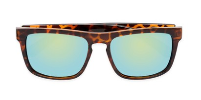 Folded of Duke #6097 in Glossy Tortoise Frame with Green Mirrored Lenses